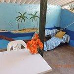Terraza habitación para 3 personas & cocina