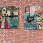 Historical murals outside