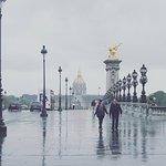 Pont Alexandre III bridge on a rainy afternoon
