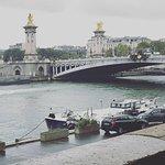 Side view of the Pont Alexandre III bridge