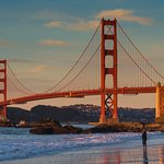 Photo taken near sunset in January at the northern end of Baker Beach. Camera on a tripod using