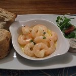 Succulent King Prawns in a garlic sauce
