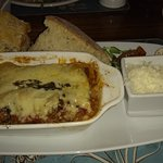 Home made Lasagne with Parmesan and Nutty Bread