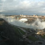 The American Falls from our hotel window