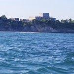Seaside view of Tulum
