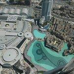 Aussich auf die Dubai Mall und die Wasserspiel