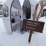 Photo booth in the snow !