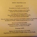 Voilà le menu !