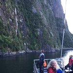 sheer sides of the fjord