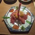 Fresh birthday sashimi cake!