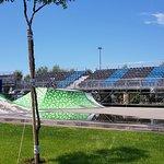 Площадка для катания на скейтах и велосипедах