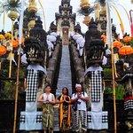 Nyoman and us at Lempuyang Temple! :D