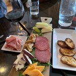 Wine & our custom Charcuterie board