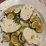 antipasto: zucchine alla scapece con ricotta fresca