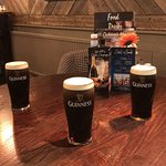 Perfectly poured pints of Guiness