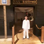 Entrance of USS HARTFORD.