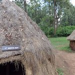 The reconstruction of the huts.