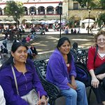 Making new friends on the Zocalo.