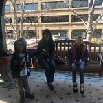 Waiting for our tour at the Molly Brown house :-)