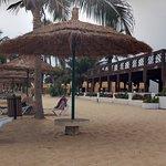 Ruimte genoeg op het hele brede strand van Sun Beach