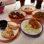 Some of the dishes from Yo Sushi.
