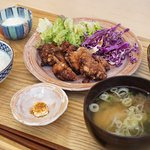 Japanese home meals : Karaage (fried chicken)