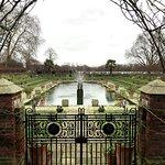 The beautiful Sunken Garden in winter
