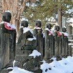 大覚寺~山門前の六地蔵