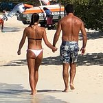 Beautiful people walking the beach