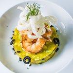 Avocado and Mango Tartar with Shrimp