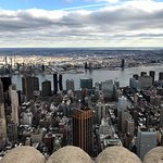View from the top of the Empire State Building.