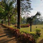 Walkway inside the Padmapuram Garden