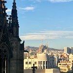 View of Barcelona from top of Basilica de Santa Maria