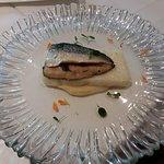 Filetto di sgombro, polenta arrosto e crema di cavolfiore