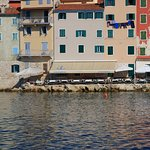 """Restaurant """" Ancora """" as seen from the sea...great location"""