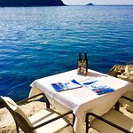 our table for TWO, at the edge of the Adriatic Sea,Restaurant Ancora in Rovinj
