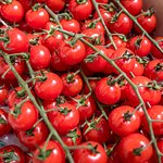 The gorgeous tomatoes in the market we visited on the food tour