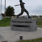 """Mickey Mantle Statue. Commerce OK. He was sometimes called the Commerce Comet because of his speed. Interestingly, I spoke with a gentleman at a museum I had just seen who knew him. This gentleman was just a kid at the time and I believe he said an older brother or cousin had played ball against him """"back in the day""""."""