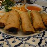 vegeterian spring rolls