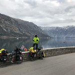 Cycling from Tivat to a Kotor in Montenegro