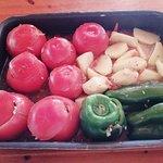 Γεμιστά! Stuffed tomatoes and peppers!