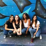 Me and my friends with our favorite graffit!