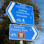 Sign post to Eastham Country Park.