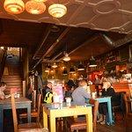 Nice, warm restaurant with plenty of space.