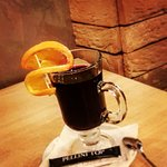 Our special house made hot wine, with cinnamon and apple flavour