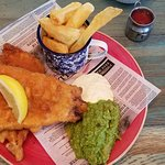 The most delicious fish and chips, ever!