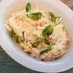 Homemade coleslaw...so creamy and delicious.