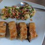 Ensalada rusa with veg strudel
