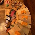 Delicious sushi moriawase