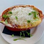 Side dish of Eggplant Parmigiana - Bursting with delicious flavor